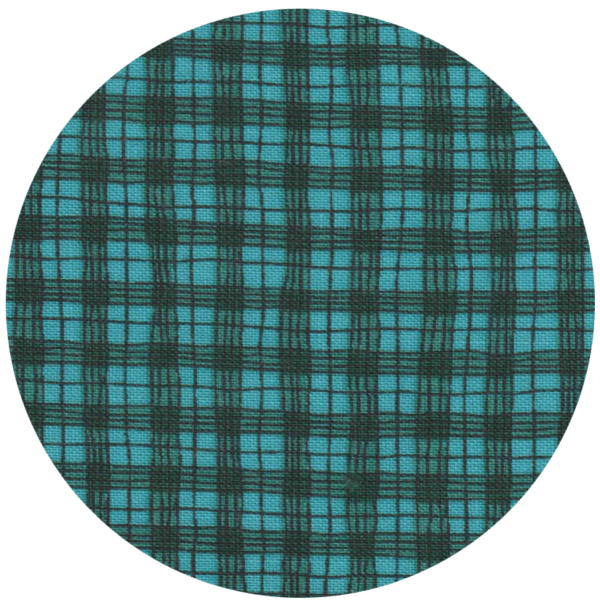 Pattern Print swatch with green and black plaid checkers