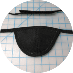 Black custom right eye patch